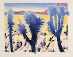 Kathryn Lee Smith, White-Line Woodblock Print, Desert Sky