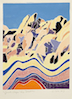 Kathryn Lee Smith, White-Line Woodblock Print, Granite